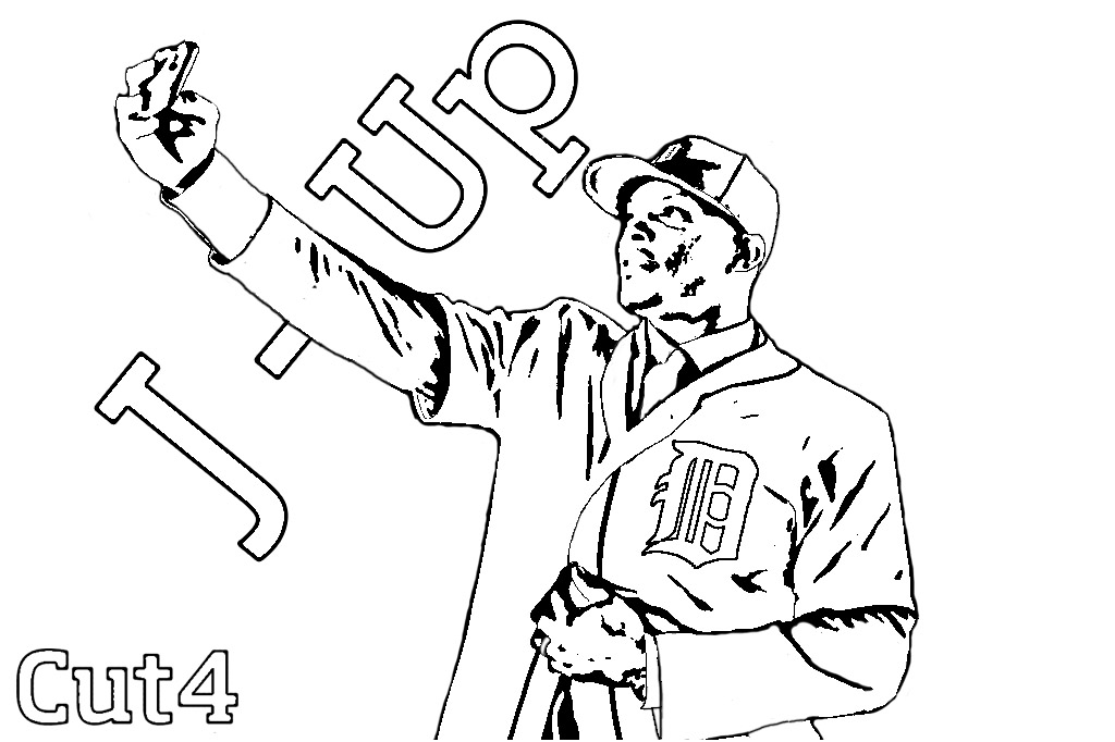 detroit tiger coloring pages - photo#27