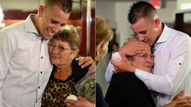 Fernandez has emotional reunion with grandmother