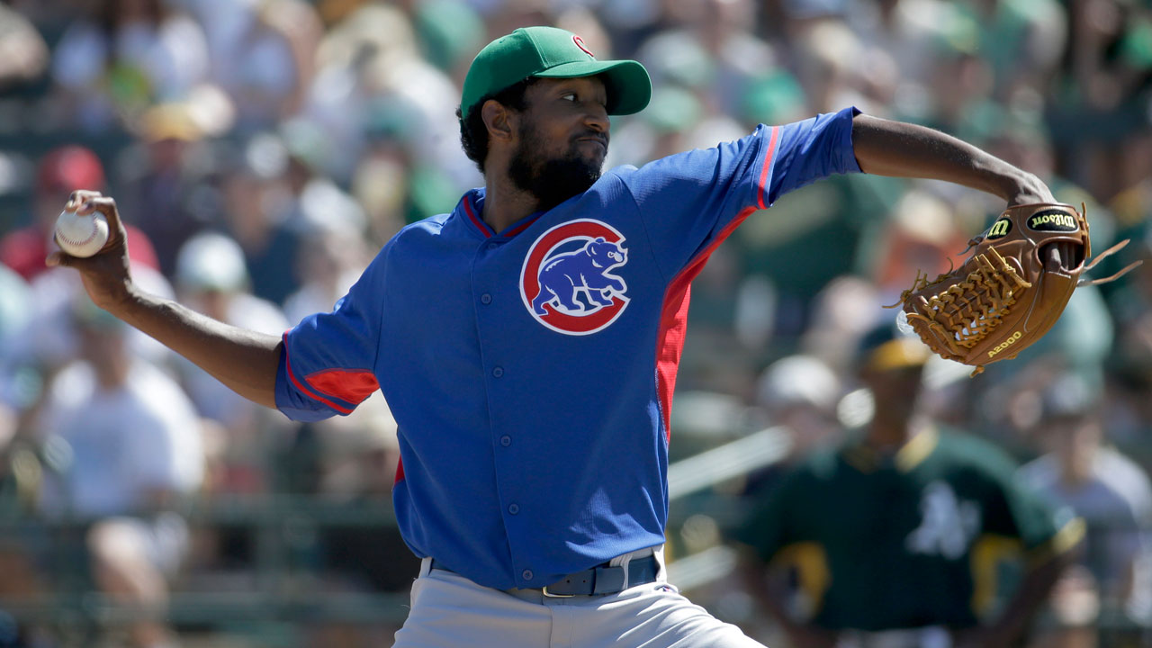 McDonald injured in Cubs' loss to A's