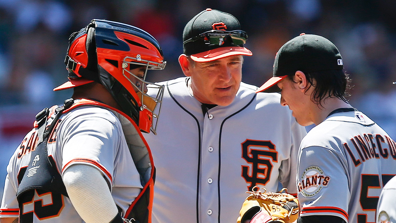Giants plane diverted for Righetti's vertigo