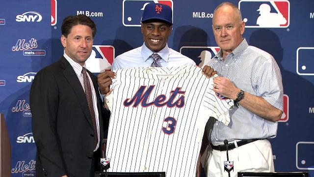 Granderson introduced, 'excited' to join Mets