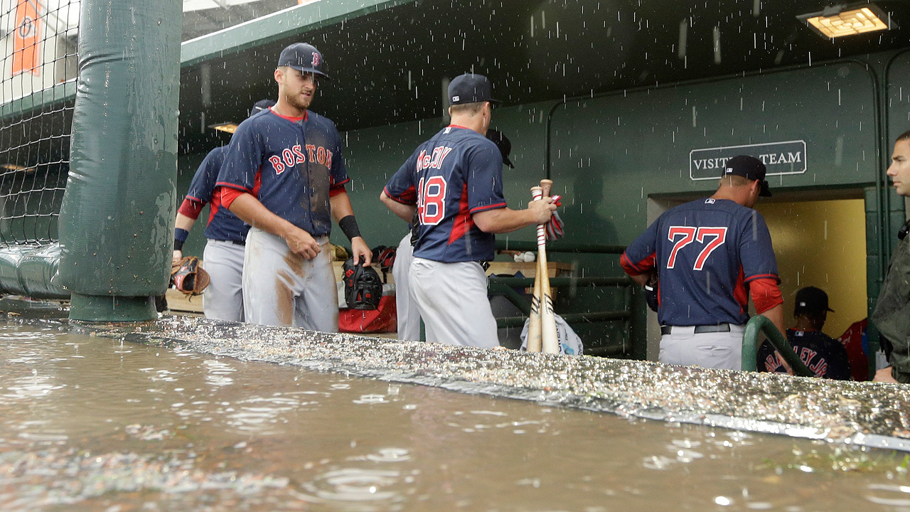Downpour cancels Sox's game vs. O's after two frames
