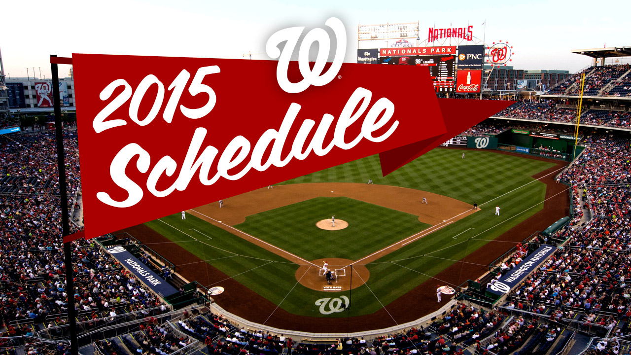 Nats' 2015 schedule features AL East foes