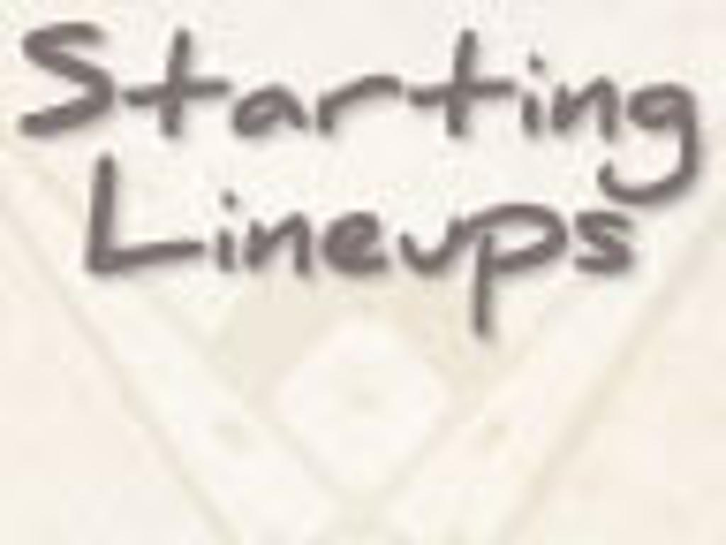 Today's MLB starting lineups: August 31