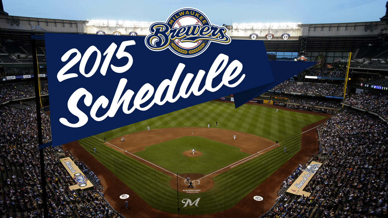 Brewers release schedule for 2015