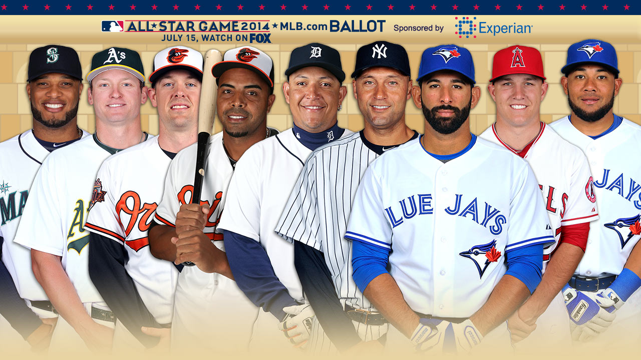 Jeter poised to start as Bautista nabs AL vote lead