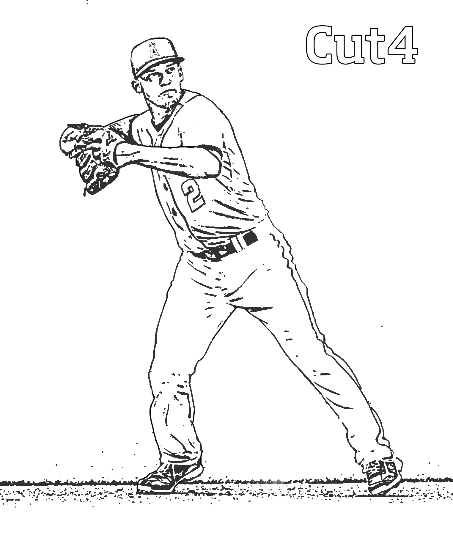 simmons - Baseball Coloring Pages Printable