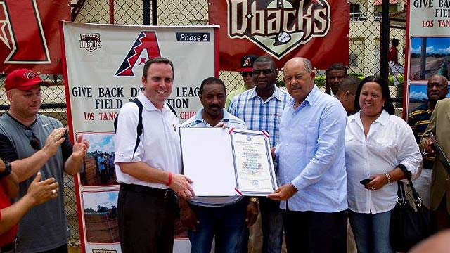 Field dedication highlights trip to Dominican