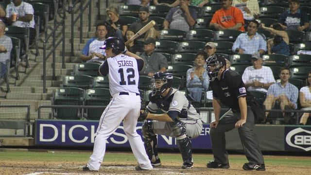 Stassi hits homer in fifth consecutive game