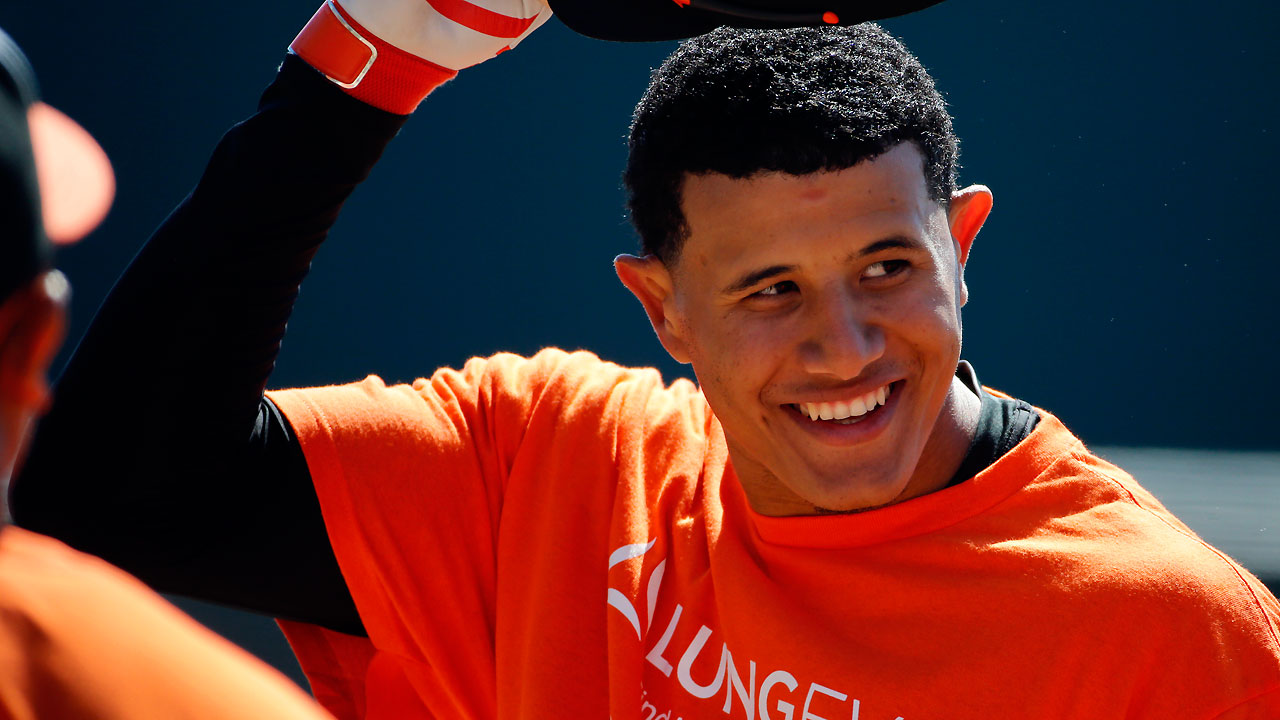 Sliding next for Machado as he makes progress