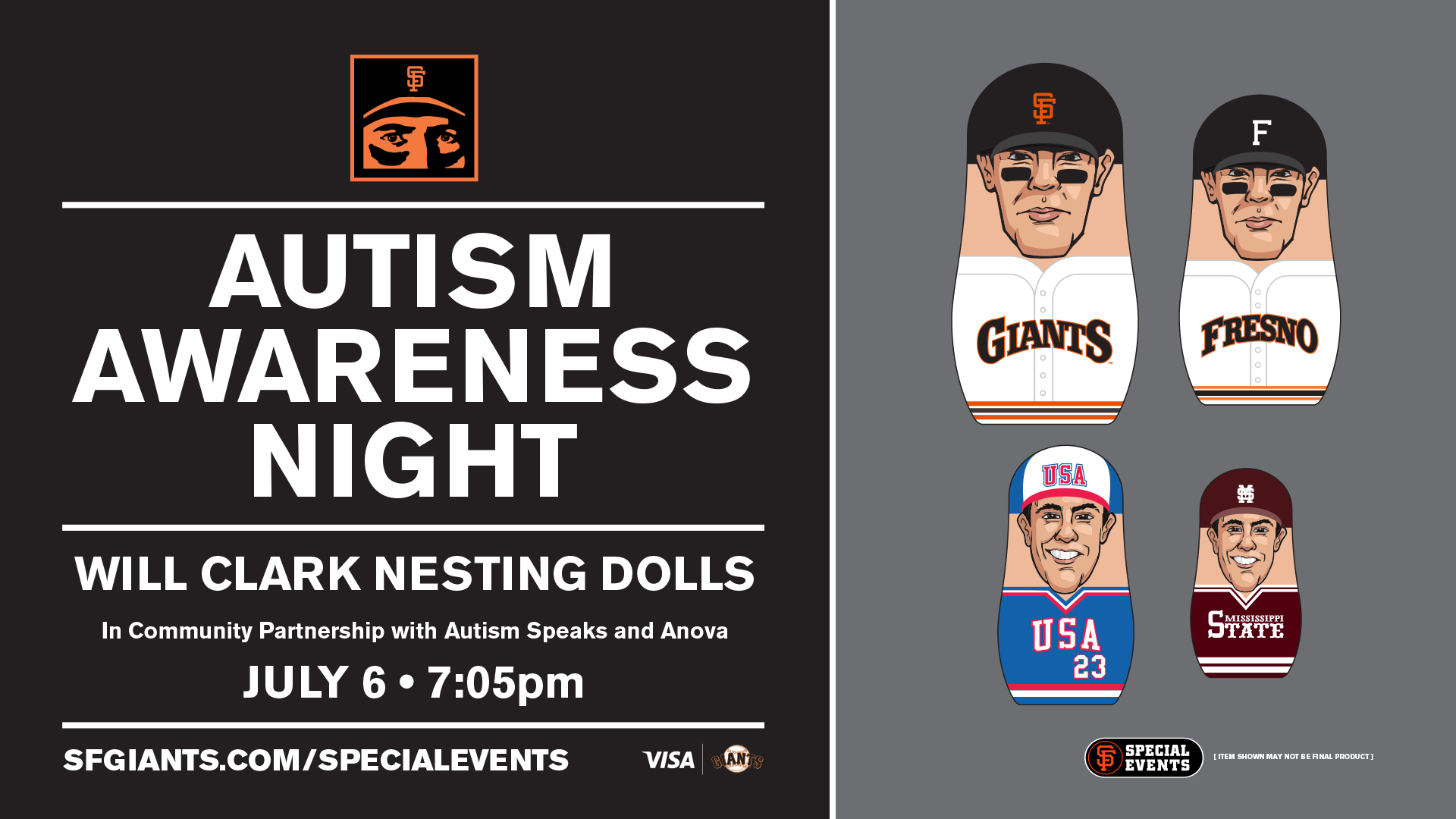 be2b0d68e58 SPECIAL EVENT: Autism Awareness Night | San Francisco Giants