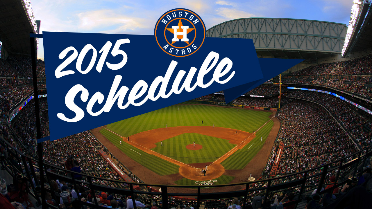 Astros to open 2015 slate with three-game home set