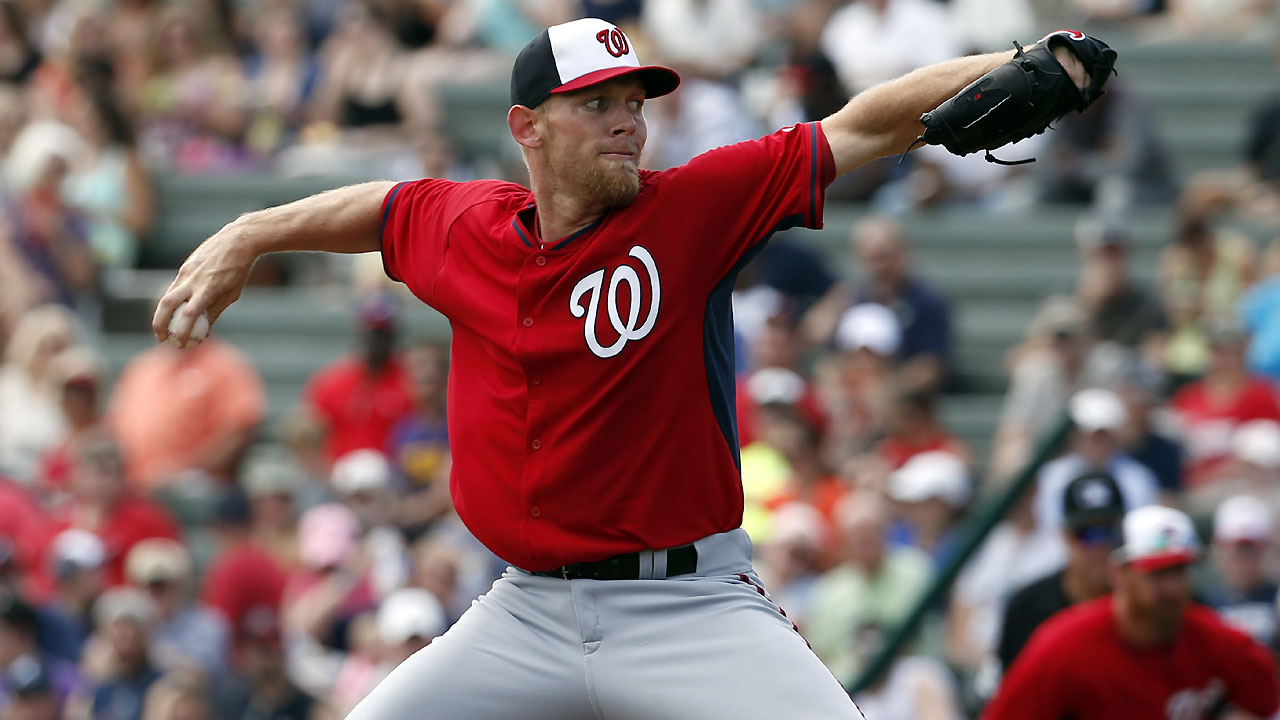 Strasburg shows no rust in first spring start