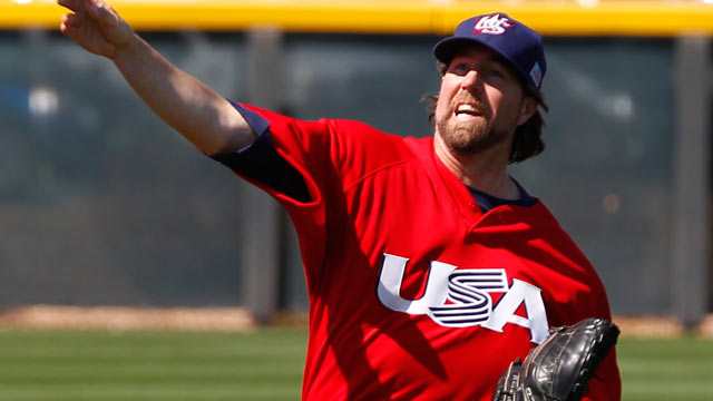 Dickey to start USA's opener against Mexico