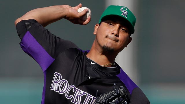 Rockies scratch RHP Chacin with back spasms