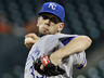 Kansas City Royals' James Shields delivers a pitch against the Houston Astros in the first inning of a baseball game on Wednesday, May 22, 2013, in Houston. (AP Photo/Pat Sullivan)
