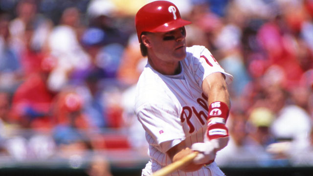 Hollins going to bat for Phils like he did in '93