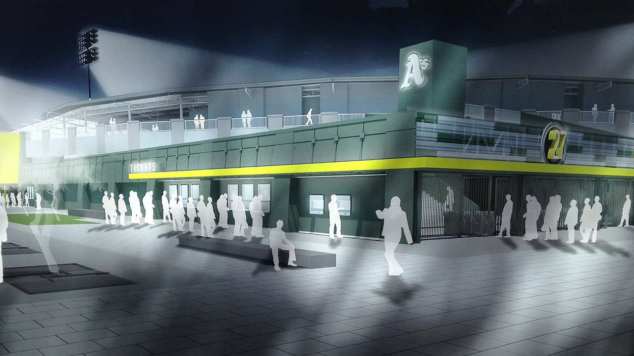 A's offer peek at plans for next spring home
