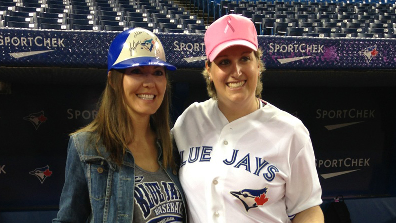 Blue Jays celebrate Mother's Day with pink gear