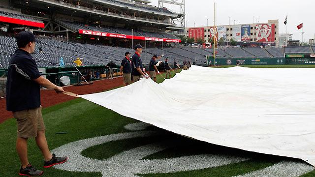 Rain brings postponement, starter shuffle for Nats