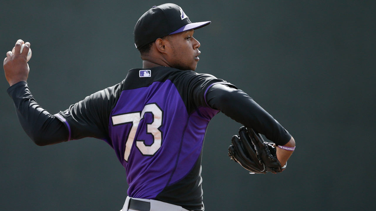 Rox prospect Aquino OK after hit to head
