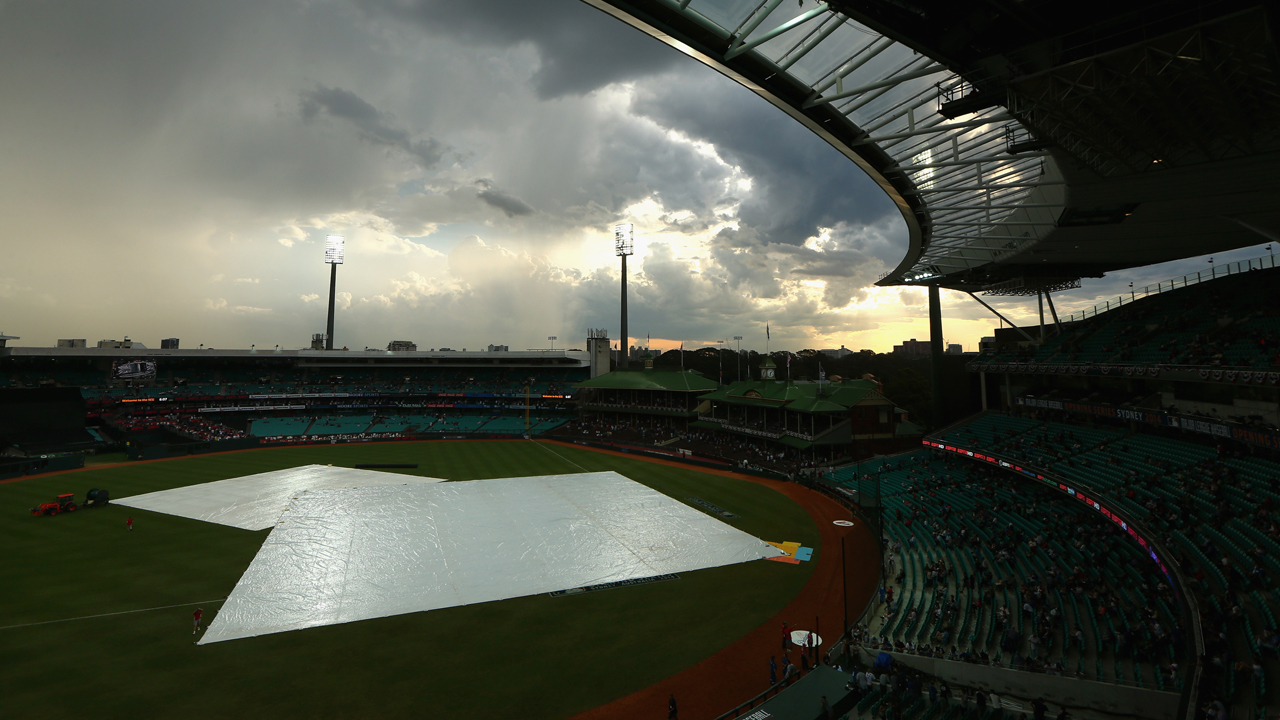 Season begins after brief rain delay Down Under