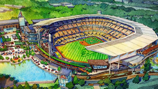 Renderings show Braves' new stadium plans