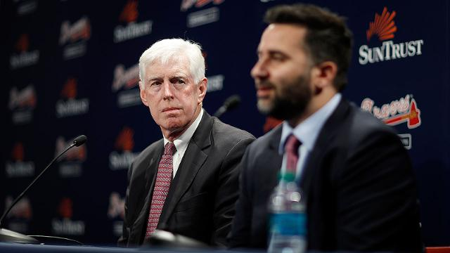 Terry McGuirk and the Braves hired Alex Anthopoulos earlier this week. (AP)