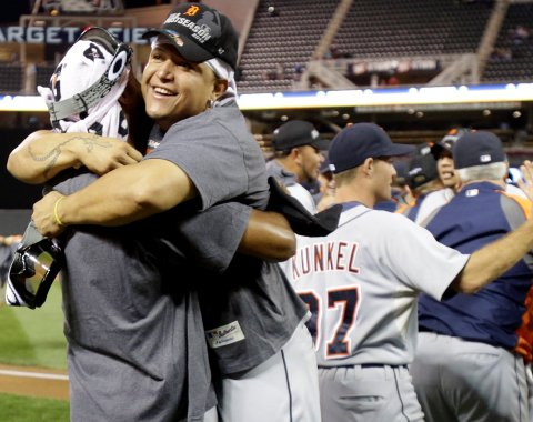 Los Tigres por fin pudieron celebrar en Minnesota