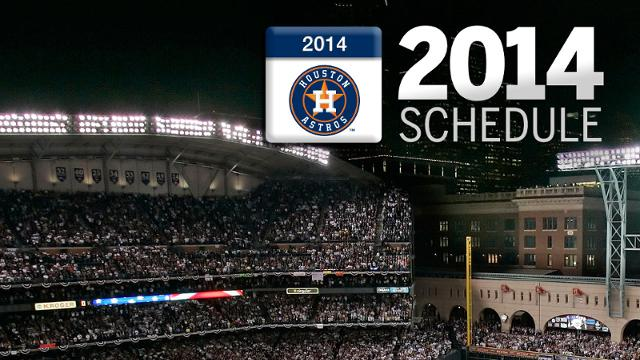 Astros to open 2014 at home against Yankees