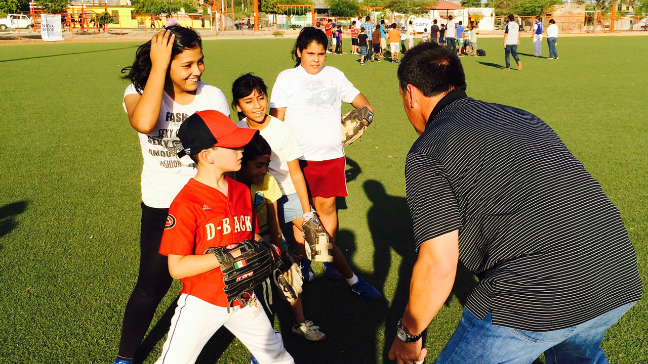 D-backs take time to visit fans south of the border