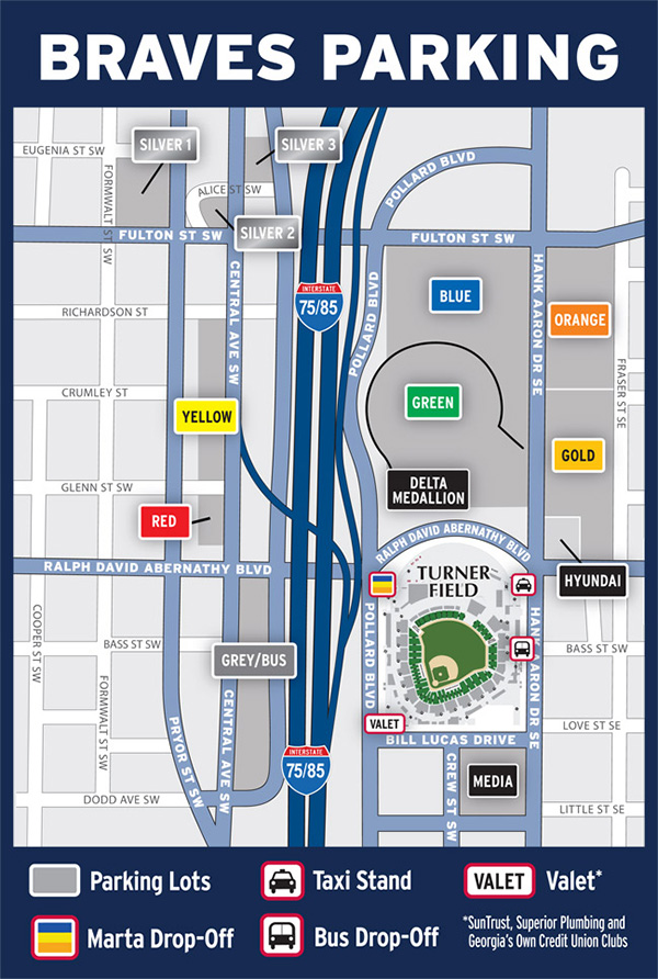 Turner Field Parking Map