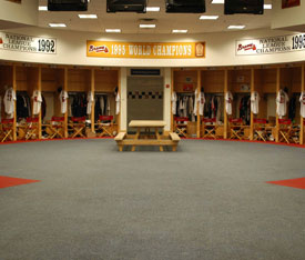 Braves Locker Room