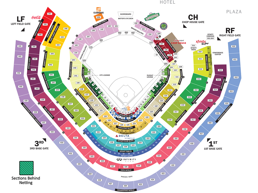 SunTrust Park Seating Map