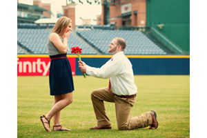 On-Field Marriage Proposal