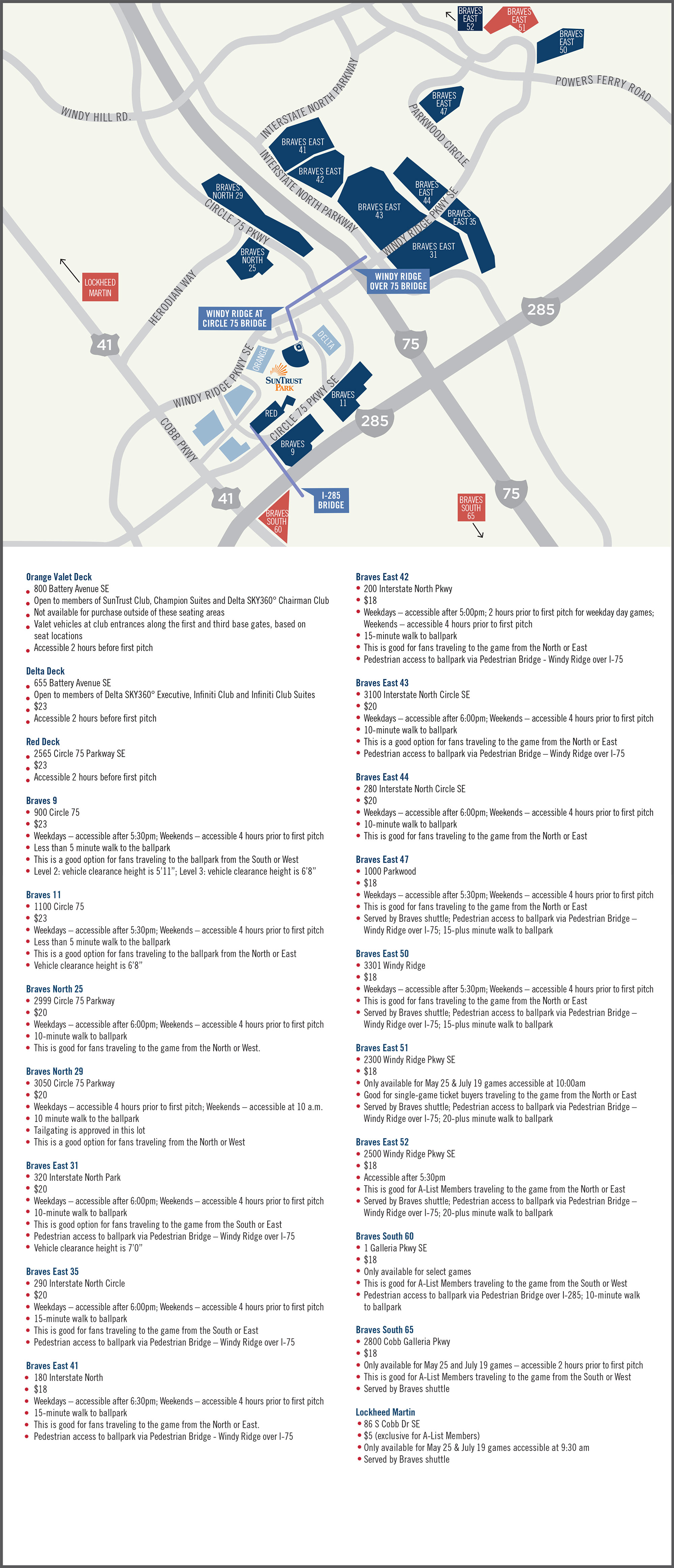 Battery Atlanta Map.Frequently Asked Questions About The Ballpark Experience