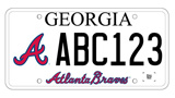 Atlanta Braves License Plates