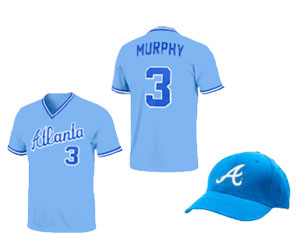Limited edition replica Dale Murphy jersey shirt or 1984 replica hat