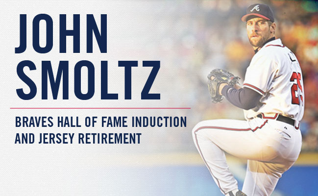 John Smoltz - Braves Hall of Fame Induction and Jersey Retirement