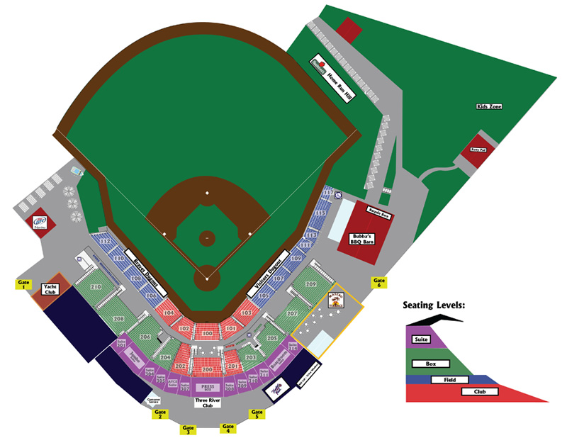 State Mutual Stadium Seating Map