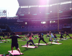 Yoga Day at Turner Field