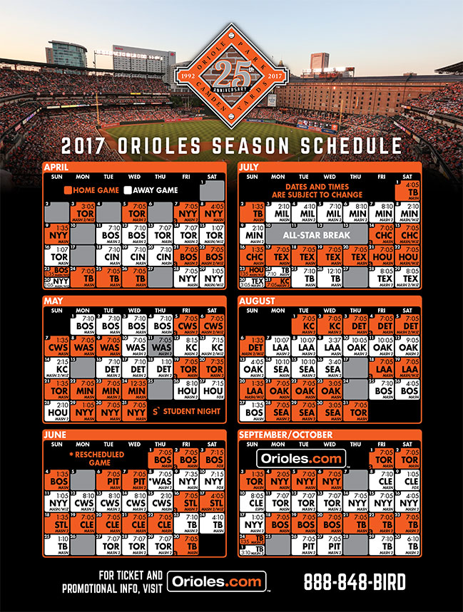 Calendar View of Season Schedule