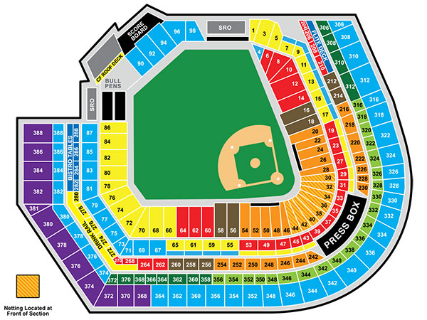 Oriole Park Seating Map