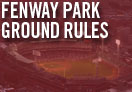 ground rules at fenway park