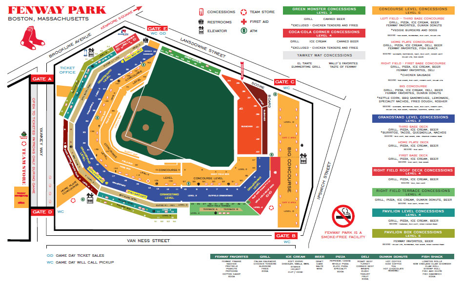 fenway park seating chart. Full Fenway Park Seating