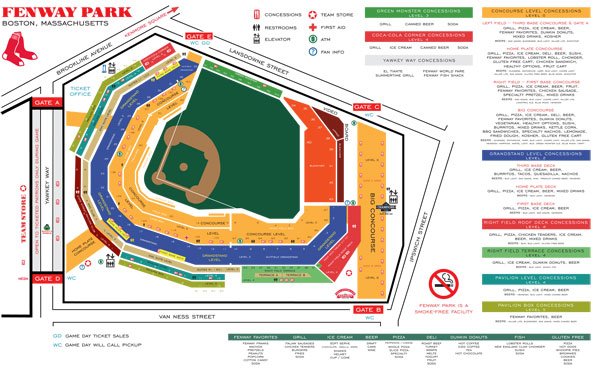 map of fenway park concessions