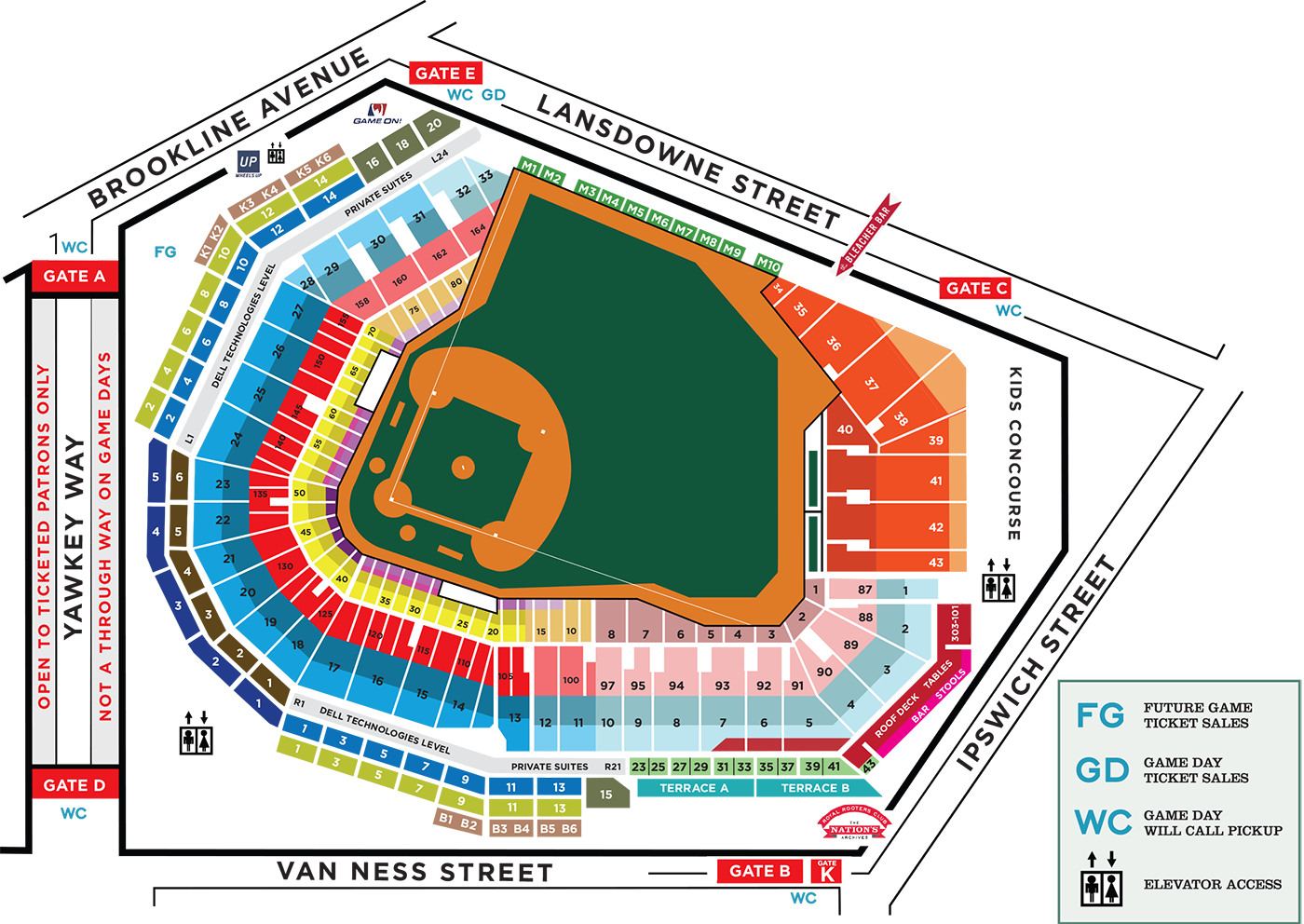 Fenway Park Seating Map