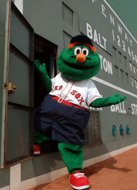 wally coming out of the green monster