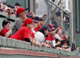 watch batting practice from the green monster