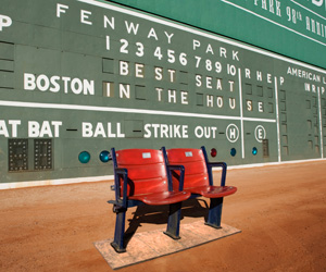 Own a pair of historic seats from Fenway Park